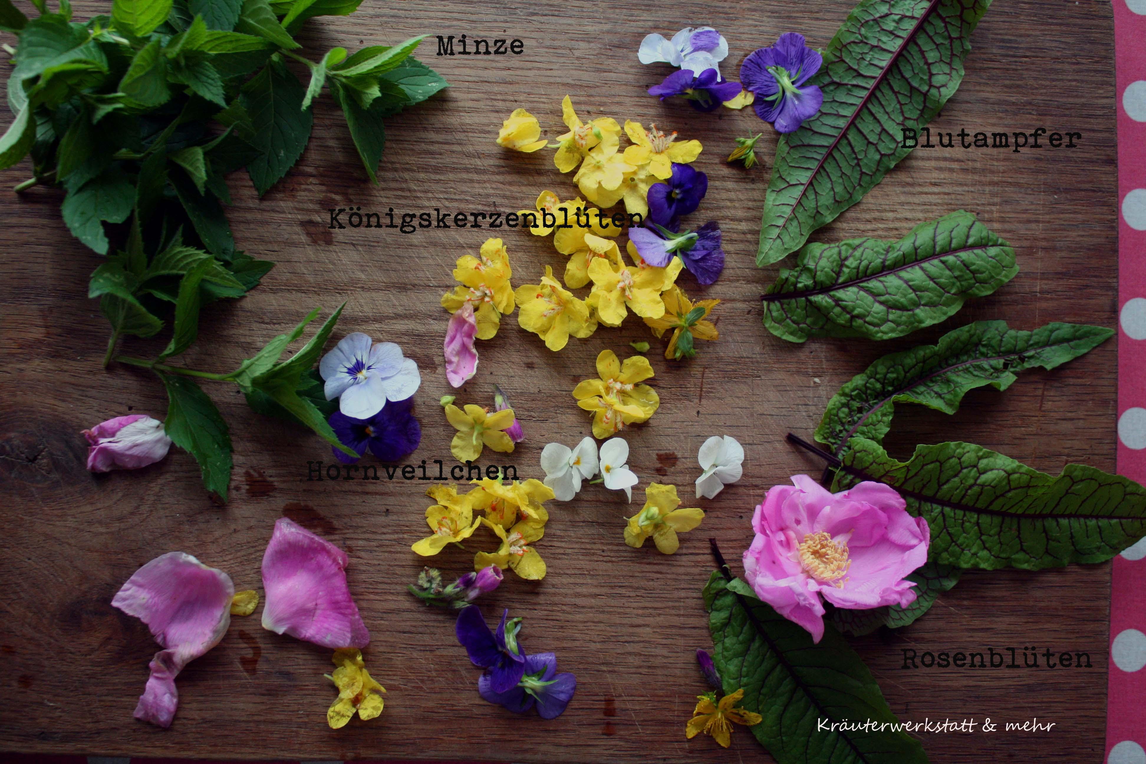 Summer rolls mit Blüten