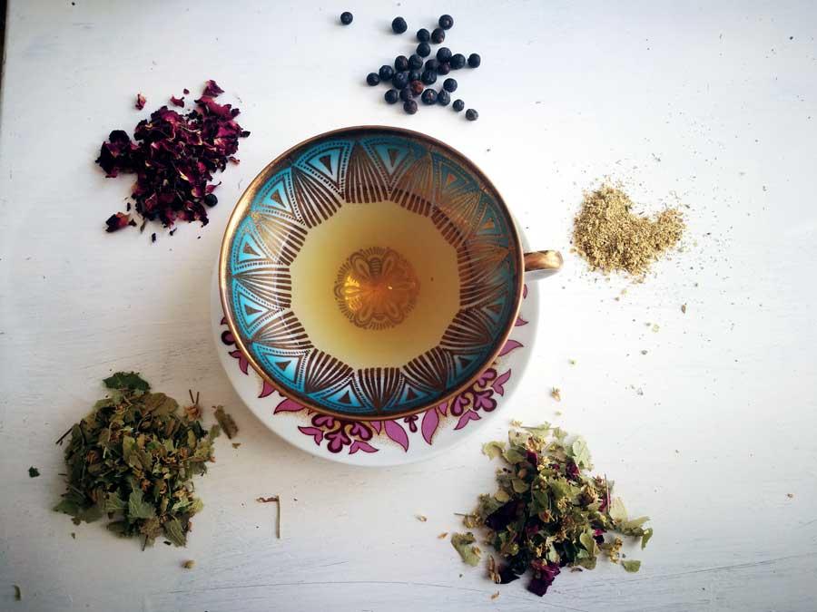 Teemischung für den Herbst