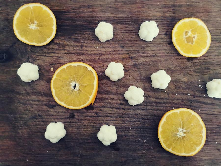 Badebomben mit Orange